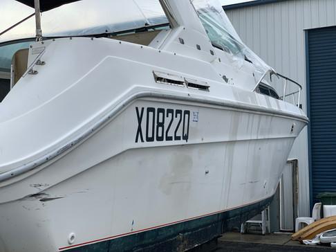 Oxidised Gelcoat boat