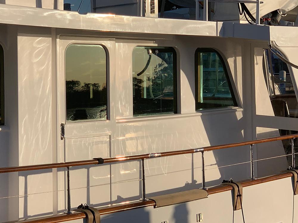 polishing holograms on a boat