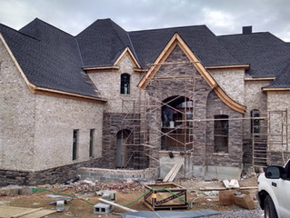 Under construction: French Eclectic w/ sunken front court