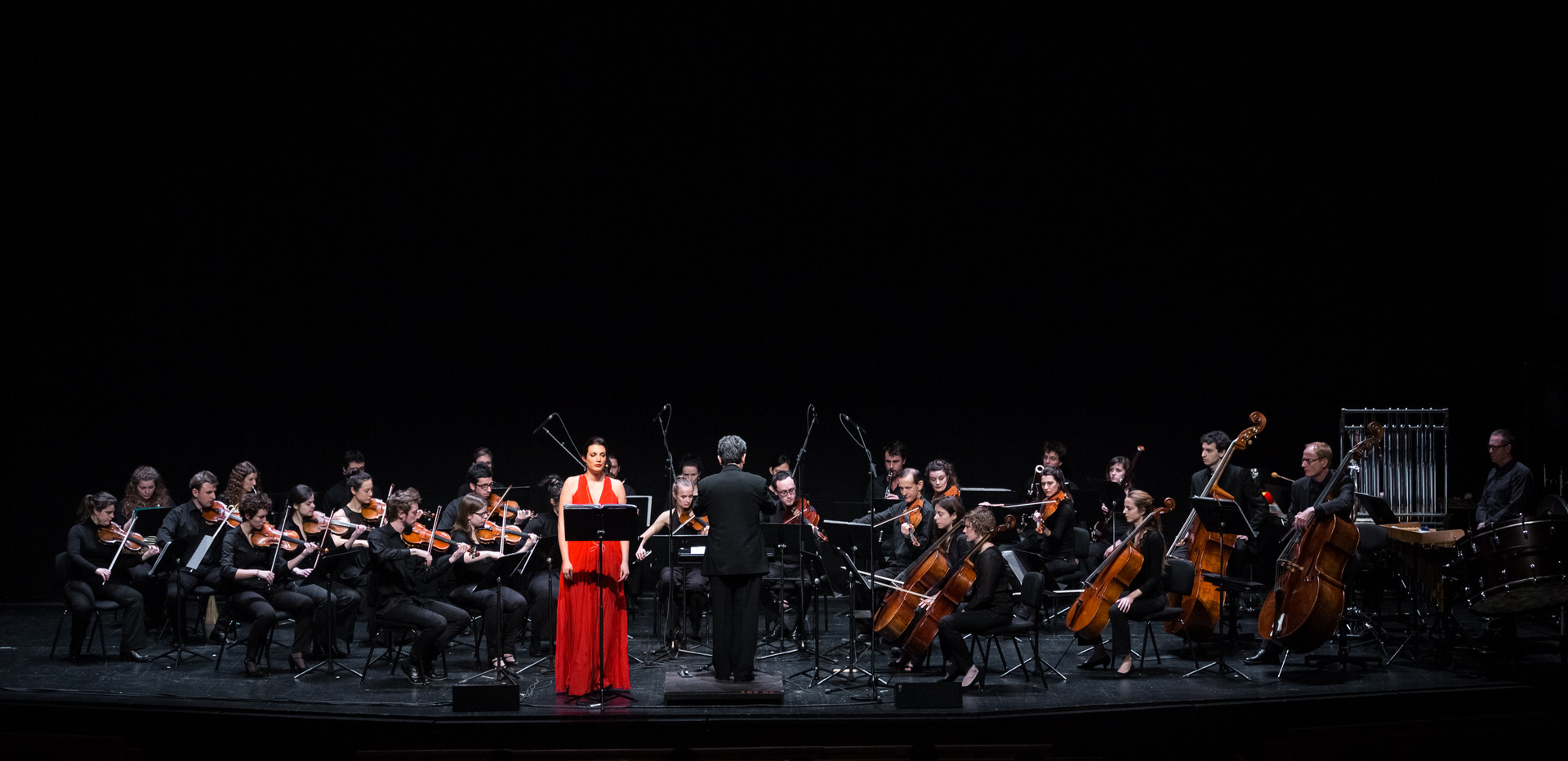 Concert with Archipel Festival with Ensemble Contrechamps directed by Pierre-André Valade