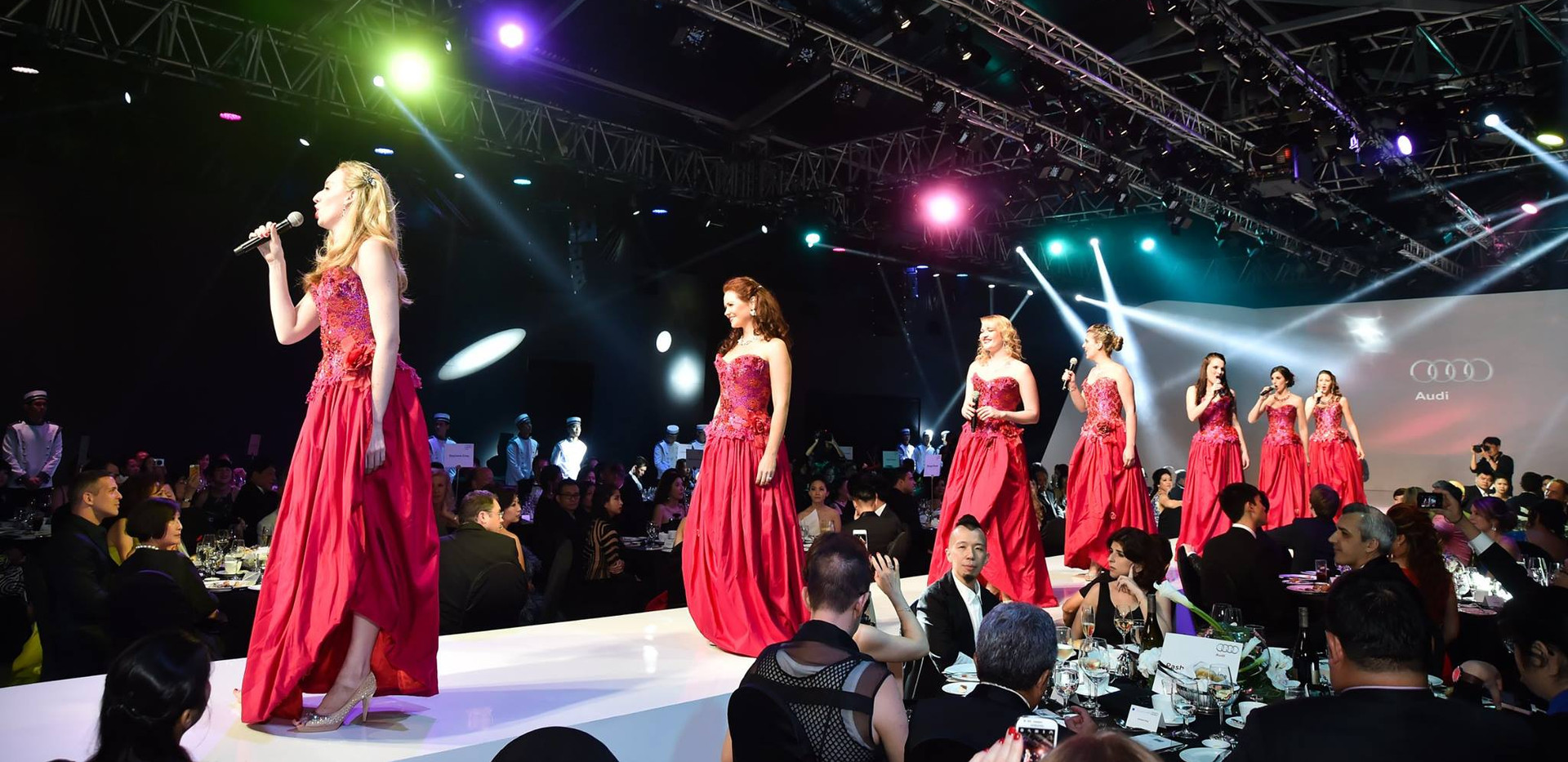 Performing with The 7 Sopranos in Singapore
