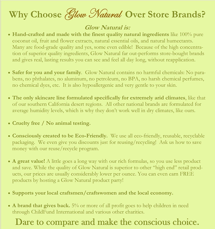 Why Choose Glow Natural Over Store Brand
