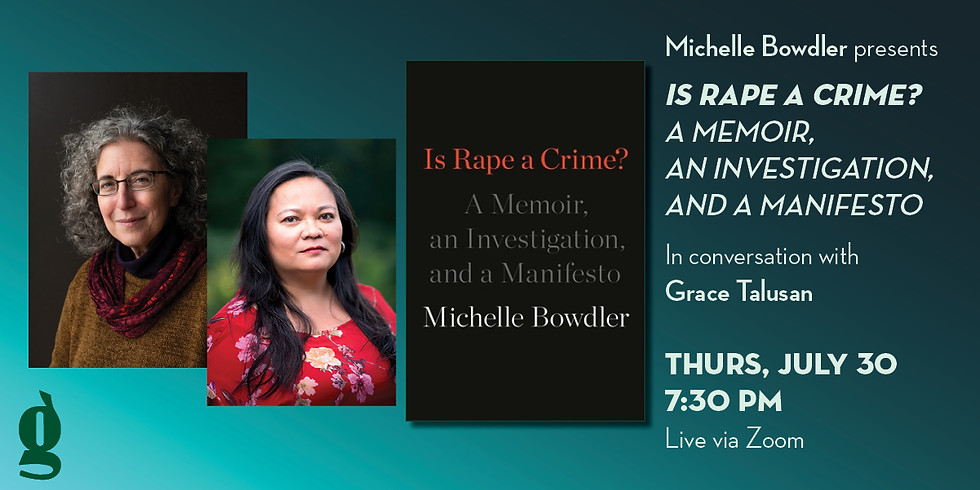 Book Launch of Michelle Bowdler's Is Rape a Crime? in Conversation