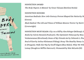 The Body Papers wins the Massachusetts Book Award in Nonfiction