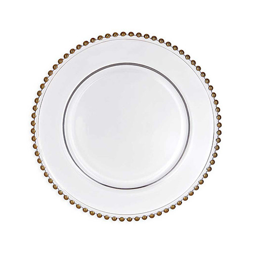 Gold Beaded Plate Charger