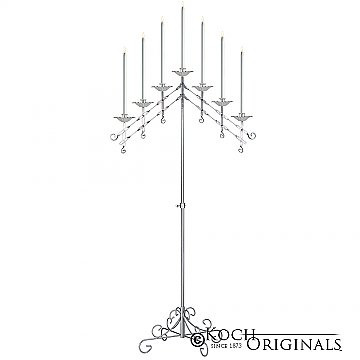 7 light adjustable floor candelabra fros