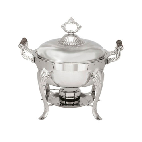 Sculptured 4 Qt Round Chafer