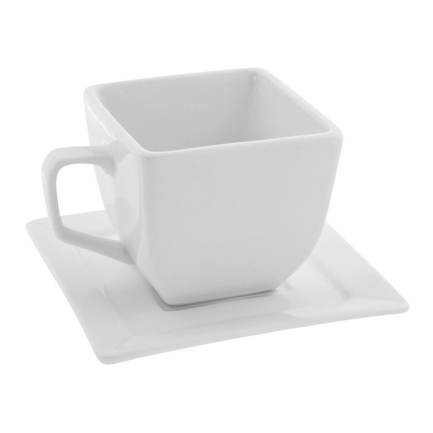 Square Cup & Saucer