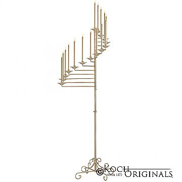 15-Light Spiral Candelabra - Gold Leaf.j