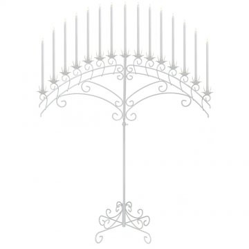 15-Light Fan Floor Candelabra - White.jp
