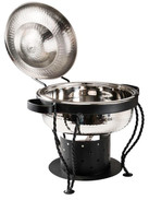 Stainless Steel Hammered 3 Qt Round Chafer