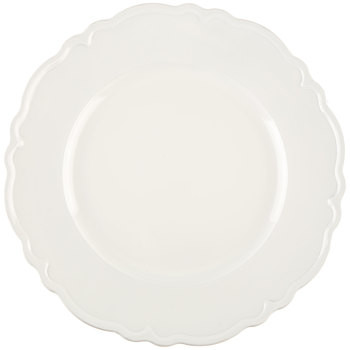 White Scalloped Plate Charger