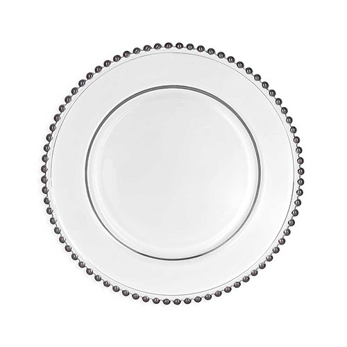 Silver Beaded Plate Charger