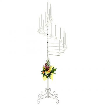 15-Light Spiral Candelabra White