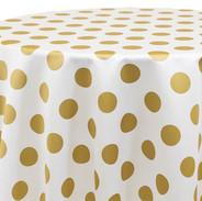 Big Dot- Gold on White