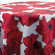Big Lace Floral- Red