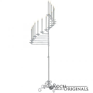 15-Light Spiral Candelabra - Frosted Sil