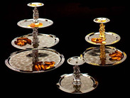 Four tiered tray silver
