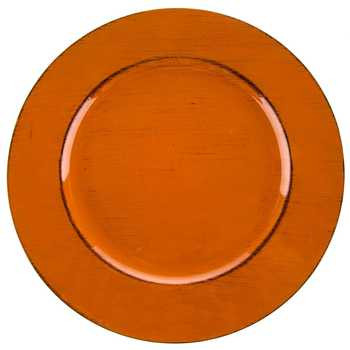 Burnt Orange Plate Charger