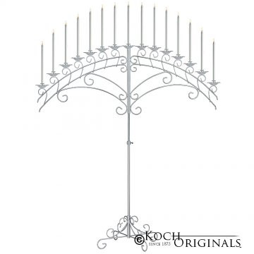 15 light fan floor candelabra silver.jpg
