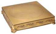 """Square Gold Cake Stand, 14"""", 18"""", 22"""""""