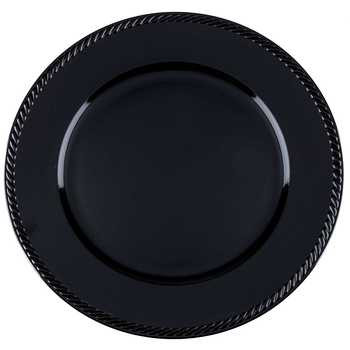 Black Plate Charger
