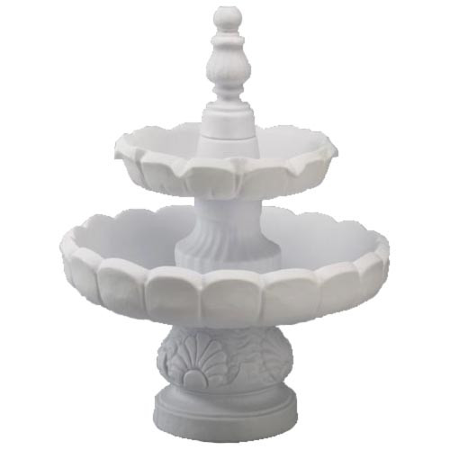 Fountain, 2-Tier Recirculating, White.jp