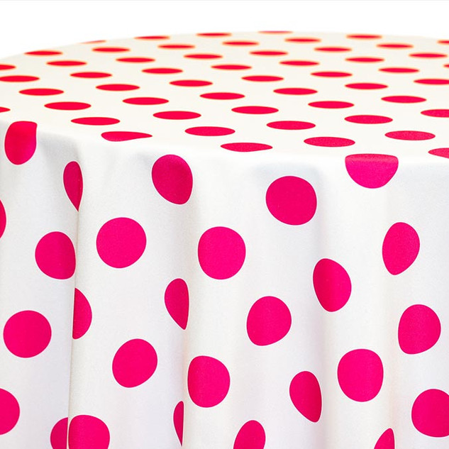 Big Dot- Fuchsia on White