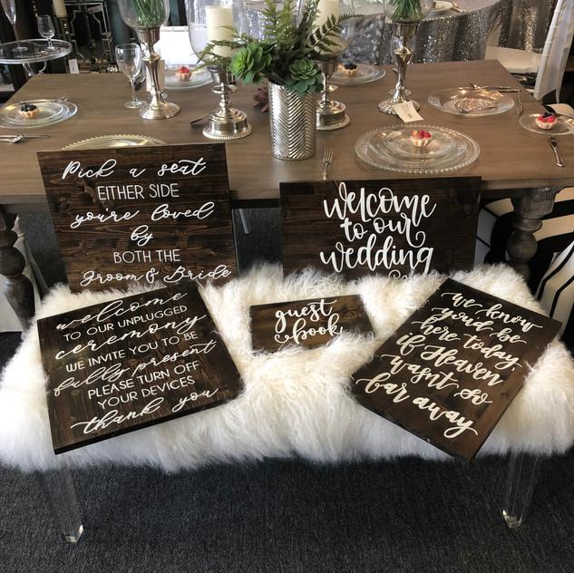 Farmhouse Wedding Signs
