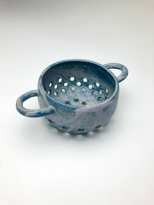 Blue Berries Straining Bowl