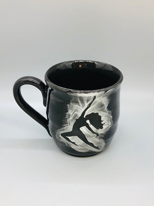 Lovely Lady Black Porcelain Mug, Freedom