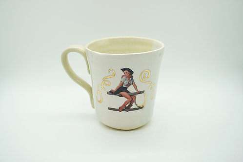 Creamy Western Girl Mug