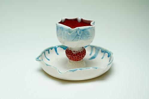 Red, White, & Blue Something-&-Dip Dish