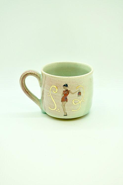 Pin-Up Mug, Kireina Josei, Teal/Pink
