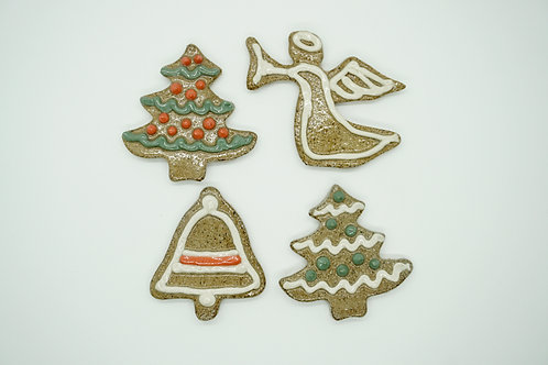 "Stoneware Christmas ""Cookies"" Set"