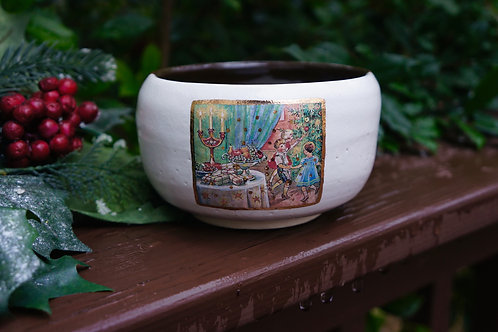 Merry Christmas Candy Bowl, Made in Oklahoma