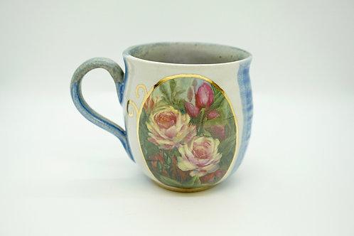 Large Blue Roses Mug