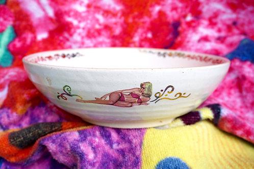 Bikini Lady Pin-Up Bowl