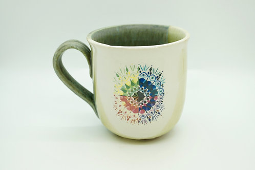 Large Teal/Violet Color Wheel Mug
