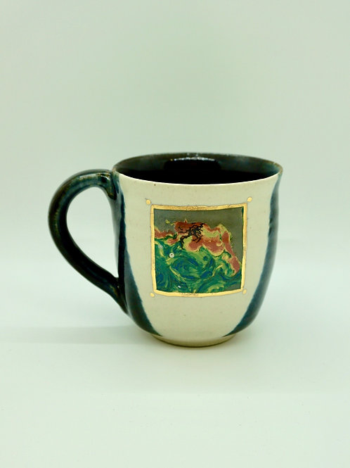 Black Oil Spill Radar Image Painting Mug