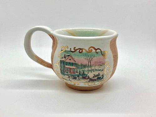 Sleigh Ride Stoneware Mug