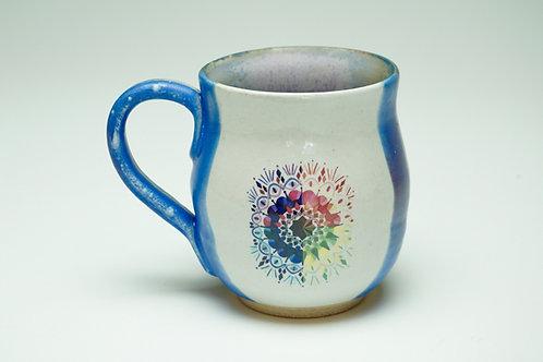 Large Blue/Violet Color Wheel Mug