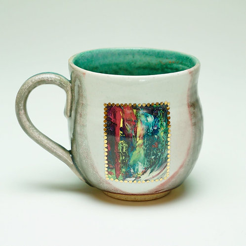 """Round Teal """"It's Complicated"""" Mug"""
