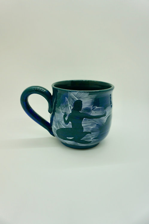 """Look at That"" Dark Green Porcelain Mermaid Mug"