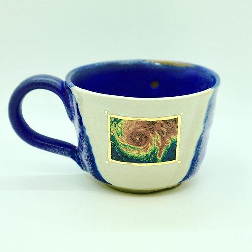 Purple Handle Hurricane Mug