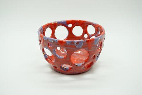 Red & Purple Porcelain Bowl, Flow Through It