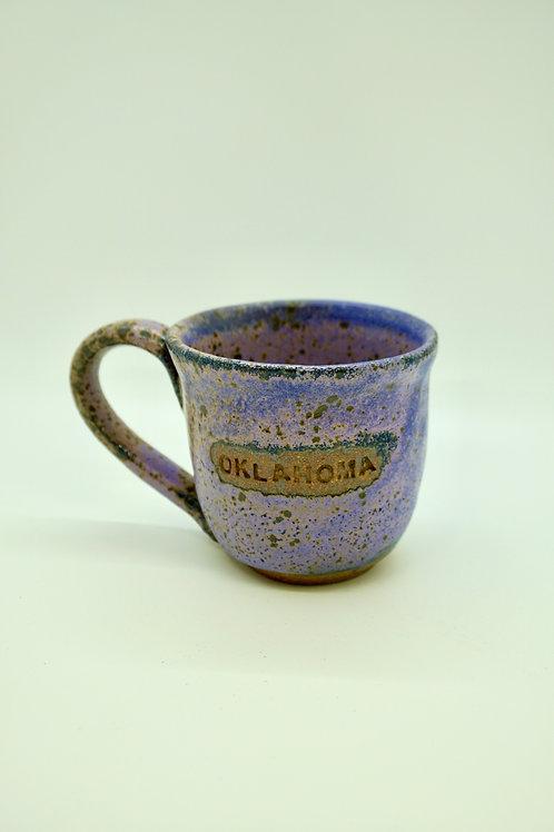 Purple Oklahoma Stoneware Mug