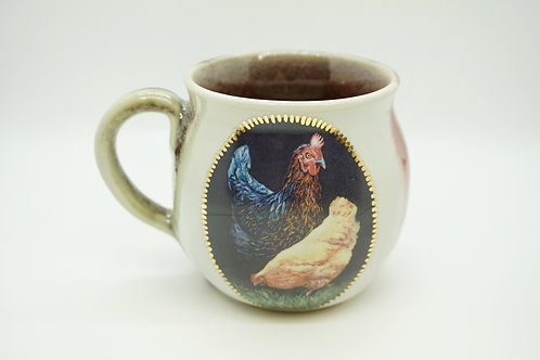 Large Crimson Chickens Mug