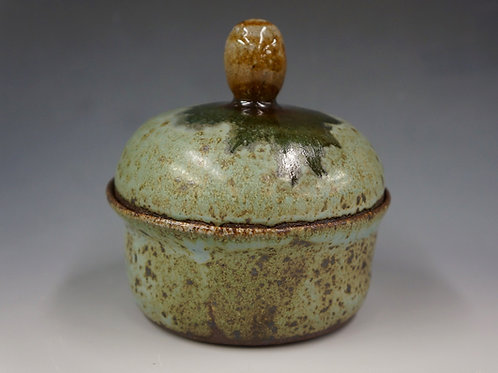 Robin's Egg Lidded Vessel