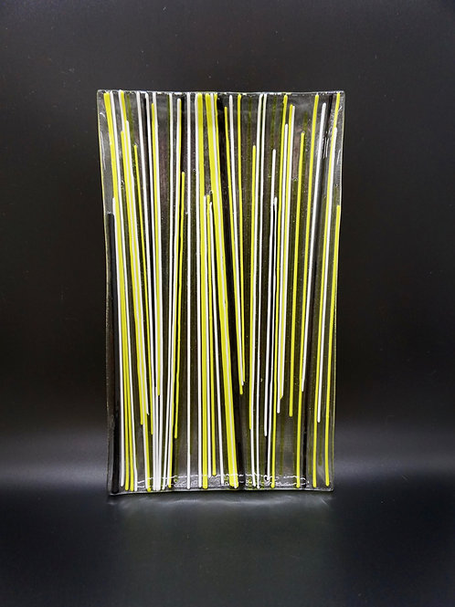 Summer Grass Slumped Glass Platter